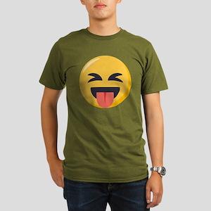 Face with stuck out Organic Men's T-Shirt (dark)