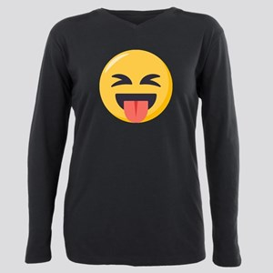 Face with stuck out ton Plus Size Long Sleeve Tee