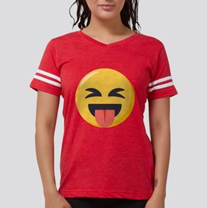 Face with stuck out tongue- Womens Football Shirt