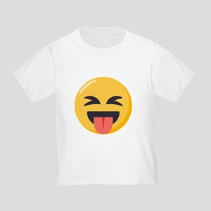 Face with stuck out tongue-Closed Toddler T-Shirt