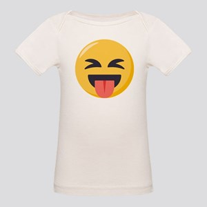 Face with stuck out tongue-C Organic Baby T-Shirt