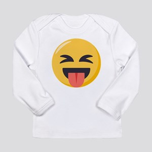 Face with stuck out to Long Sleeve Infant T-Shirt