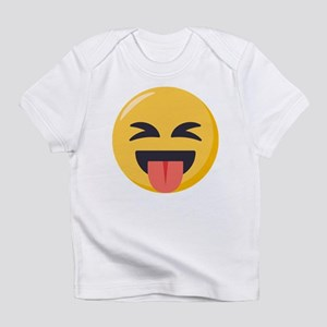 Face with stuck out tongue-Closed Infant T-Shirt