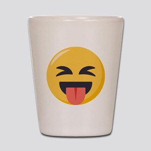 Face with stuck out tongue-Closed eyes Shot Glass