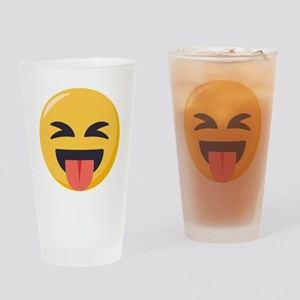 Face with stuck out tongue-Closed Drinking Glass