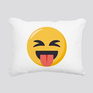 Face with stuck out ton Rectangular Canvas Pillow