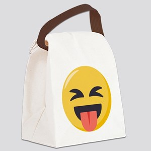 Face with stuck out tongue-Close Canvas Lunch Bag