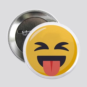 "Face with stuck out tongue 2.25"" Button (10 pack)"