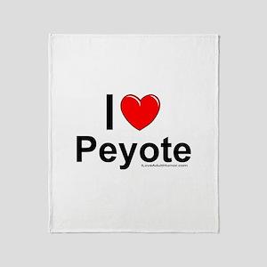 Peyote Throw Blanket