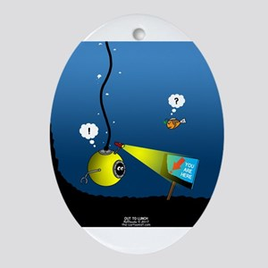 Deep Sea Sign Oval Ornament