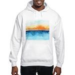 Orange Rays Permeate Hooded Sweatshirt