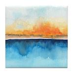 Orange Rays Permeate Tile Coaster