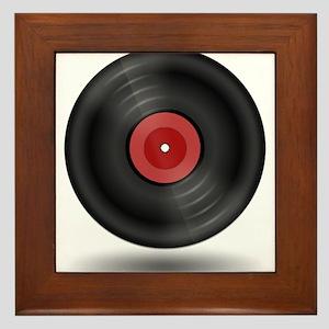 Vintage Vinyl Record Framed Tile