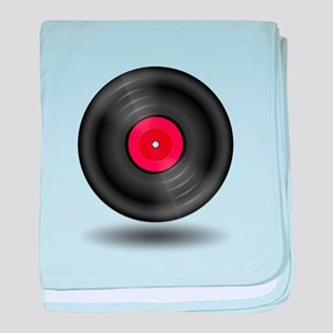 Vintage Vinyl Record baby blanket