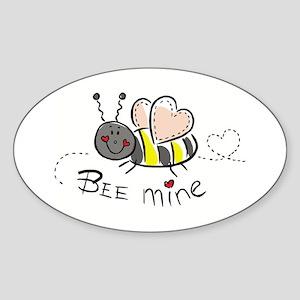 Bee Mine Oval Sticker