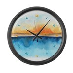 Orange Rays Permeate Large Wall Clock
