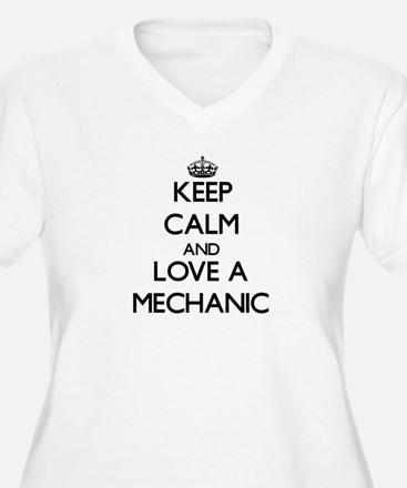 Keep Calm and Love a Mechanic Plus Size T-Shirt