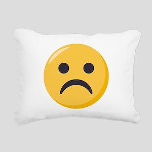 Frowning-face Emoji Rectangular Canvas Pillow
