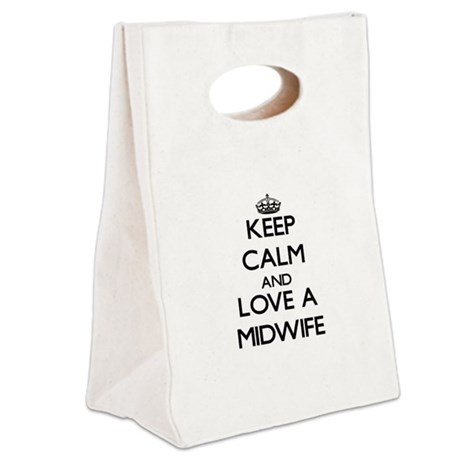 Keep Calm and Love a Midwife Canvas Lunch Tote