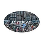 Amsterdam Oval Car Magnet
