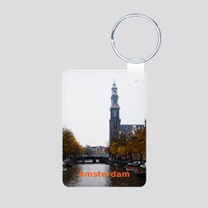 Amsterdam Aluminum Photo Keychain