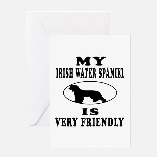 My Irish Water Spaniel Is Very Friendly Greeting C