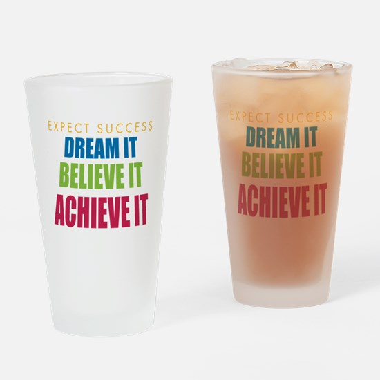 Expect Success Drinking Glass