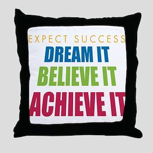 Expect Success Throw Pillow