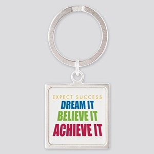 Expect Success Square Keychain