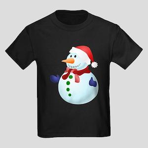 Blue Christmas Snowman T-Shirt