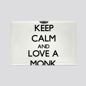 Keep Calm and Love a Monk Magnets