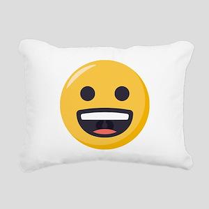 Grinning-face Emoji Rectangular Canvas Pillow