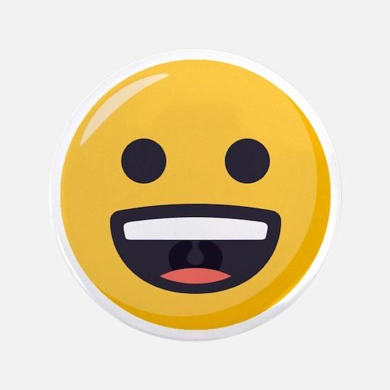"Grinning-face Emoji 3.5"" Button"