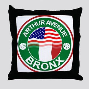 Arthur Avenue Bronx Italian American Throw Pillow