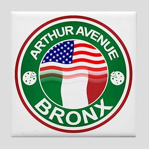 Arthur Avenue Bronx Italian American Tile Coaster