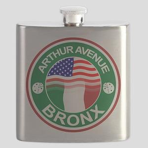 Arthur Avenue Bronx Italian American Flask