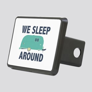 We Sleep Around Rectangular Hitch Cover