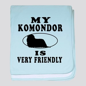 My Komondor Is Very Friendly baby blanket