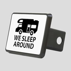 We Sleep Around Rectangular Hitch Cover