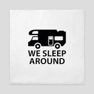 We Sleep Around Queen Duvet