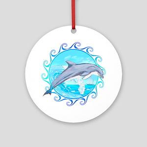 Dolphin Maori Sun Ornament (Round)