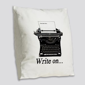 Write on Burlap Throw Pillow