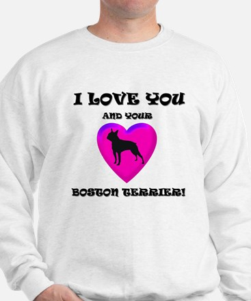 Valentine's Boston Terrier Sweater