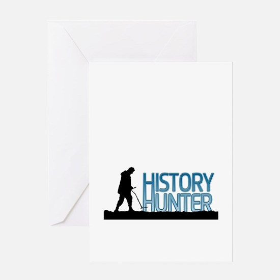 Metal Detecting History Hunter Greeting Cards