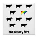 One in Every Herd Tile Coaster