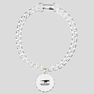 T-REX HATE NOTHING Charm Bracelet, One Charm