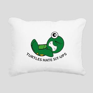 Turtles Hate Sit-Ups Rectangular Canvas Pillow