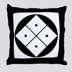 Tilted four-square-eyes in rice cake Throw Pillow