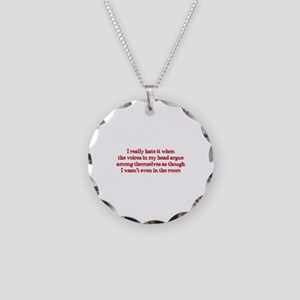 Voices In My Head Necklace Circle Charm