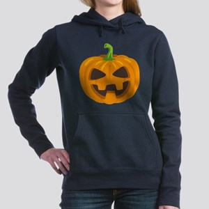 Jack-O-Lantern Emoji Women's Hooded Sweatshirt